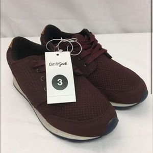 Cat & Jack  Burgundy Sneakers size 3 & 1